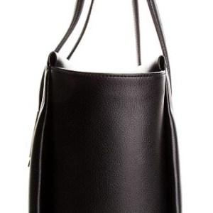 Calvin Klein kabelka Frame Large Shopper čierna detail