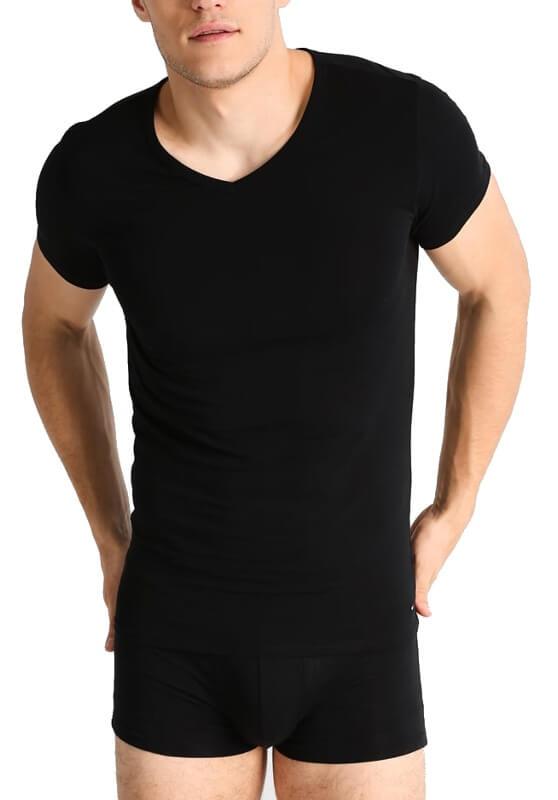 Tričko Tommy Hilfiger čierne 3 pack Premium Ess Tee