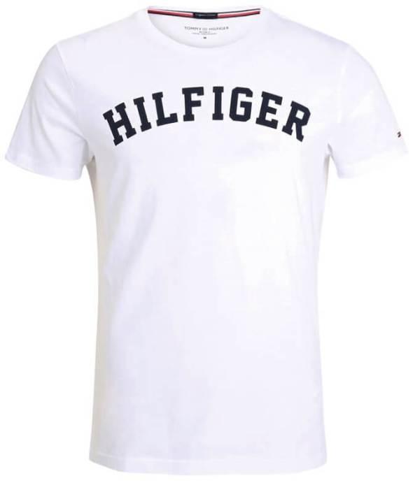 Pánske tričko Tommy Hilfiger Icon SS Tee Logo 100 biele