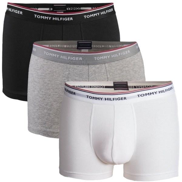 Tommy Hilfiger boxerky 3pack Premium Essentials Trunk čierne/šedé/biele