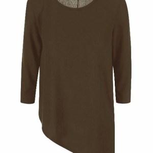 ONLY dámsky pulover Estelle Asymmetrical Top olivová