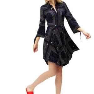 Šaty Tommy Hilfiger Asymmetric Printed Shirt Dress 3