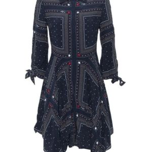 Šaty Tommy Hilfiger Asymmetric Printed Shirt Dress