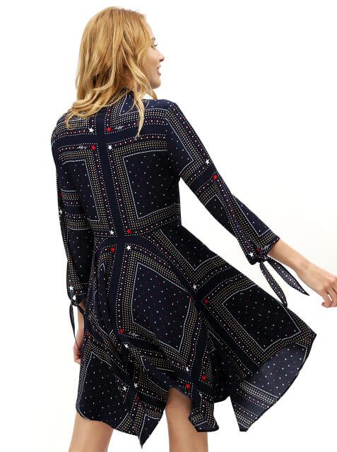Šaty Tommy Hilfiger Asymmetric Printed Shirt Dress 6