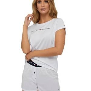 Tommy Hilfiger tričko Original CN SS Tee Logo 100 biele 01