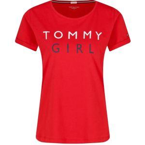 Tričko Tommy Hilfiger CN Tee SS Tango Red