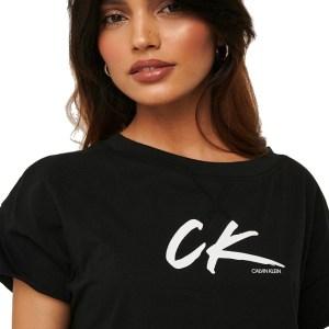 Calvin Klein tričko dámske Cropped Tee čierne_01