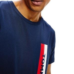 Tommy Hilfiger tričko pánske Crew Neck Logo Tee CUN modré_01