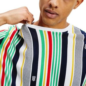 Tommy Hilfiger tričko pánske Drop Shoulder Stripe Tee 0G0 multi_01