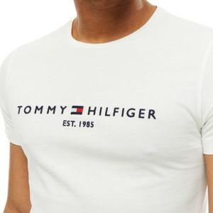 Tommy Hilfiger tričko pánske Flag Logo T-Shirt biele 118_001
