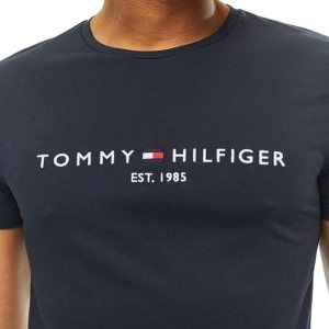 Tommy Hilfiger tričko pánske Flag Logo T-Shirt tmavé modré 403_01
