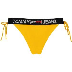 Tommy Jeans plavky dámske nohavičky Cheeky String Bikini ZER žlté