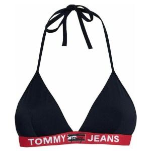 Tommy Jeans plavky dámske podprsenka Fixed Triangle tmavo-modré DW5