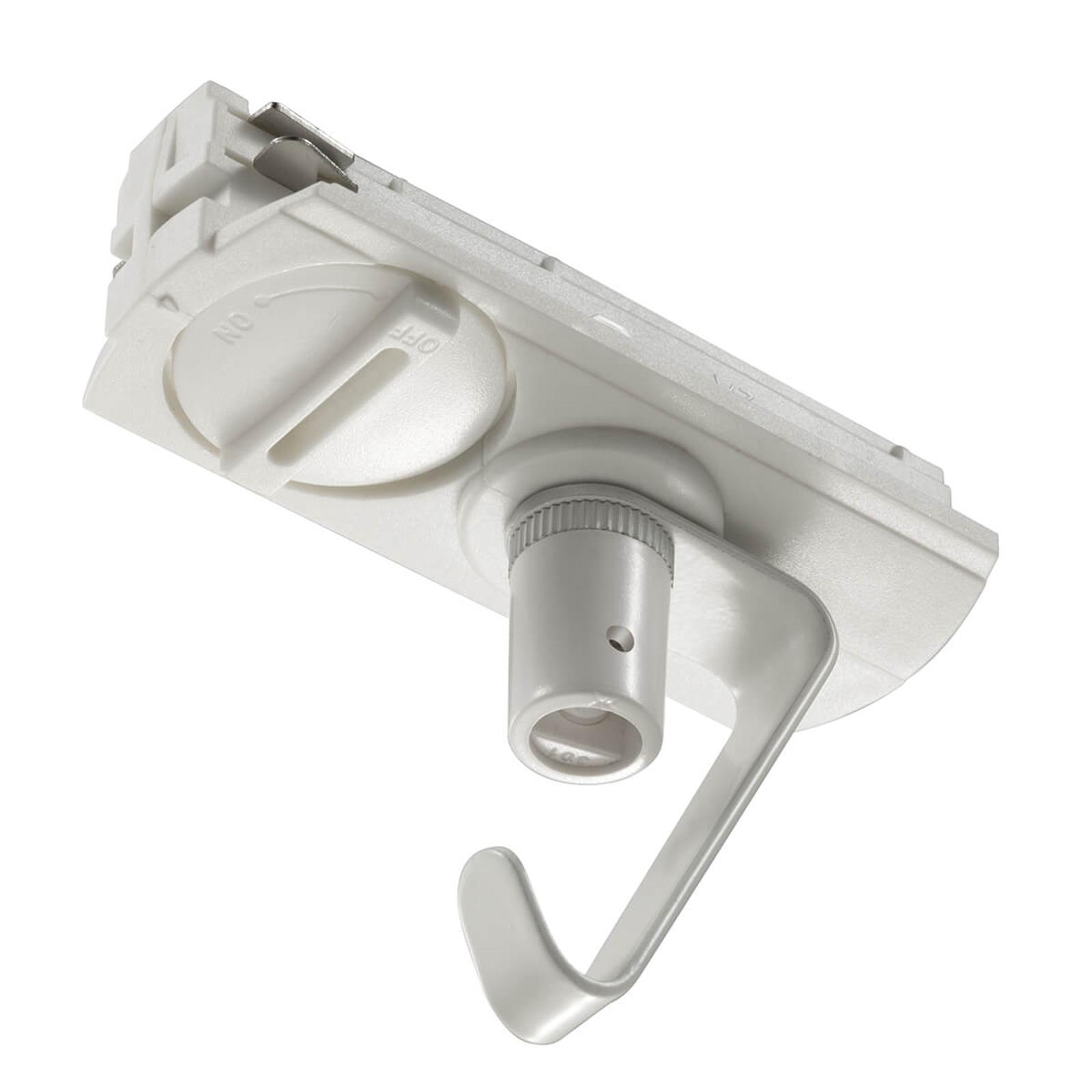 pendant adaptor link track lighting system white
