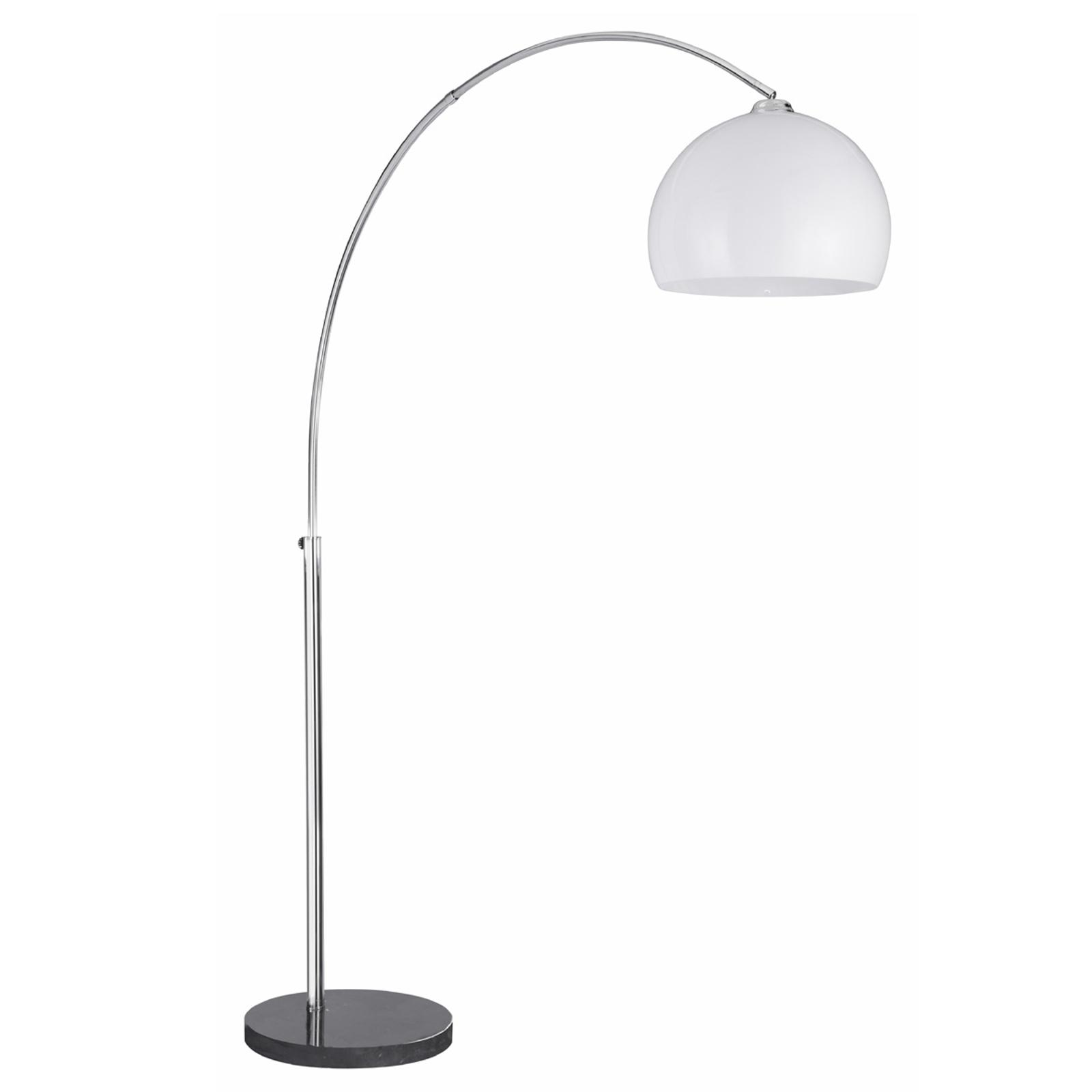 lampadaire arque arcos avec pied de marbre