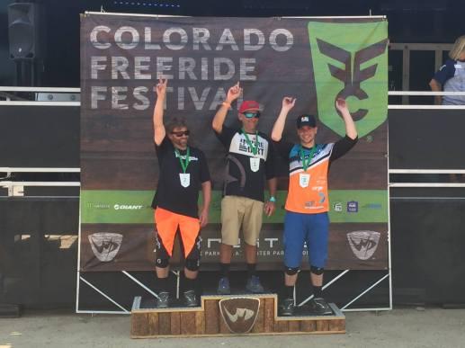 3rd Place Colorado Freeride Festival Super Down hill, Master Men 30