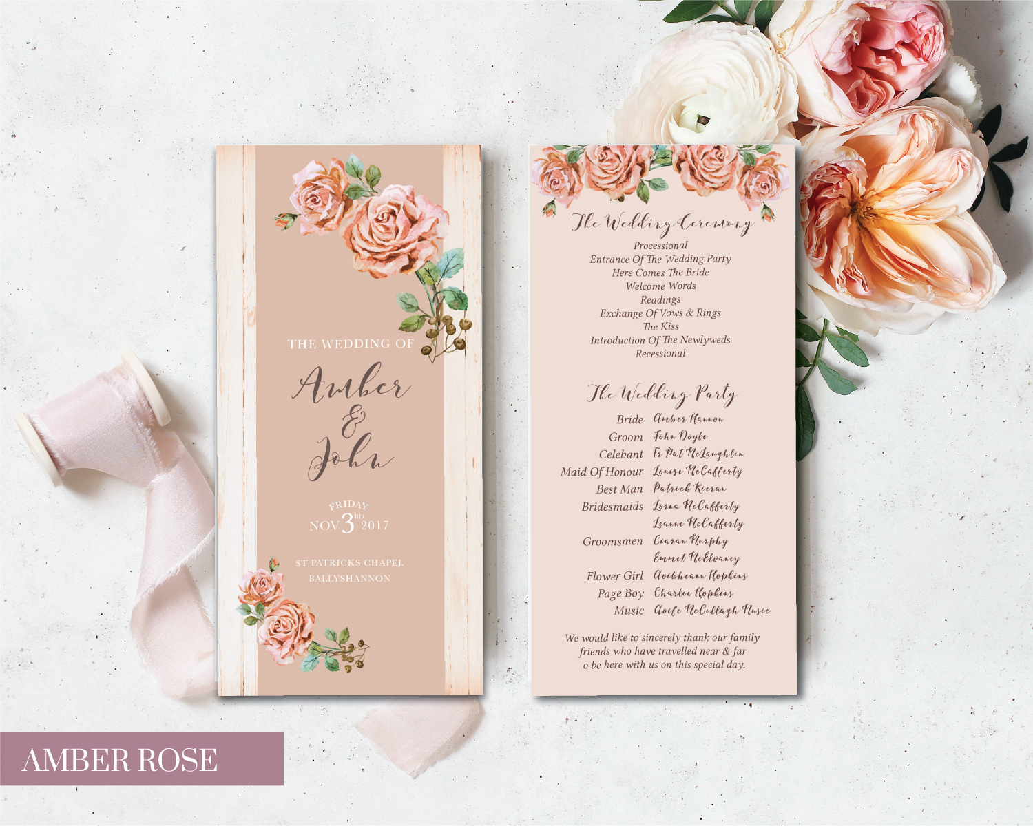 Amber Rose Bridal Cards