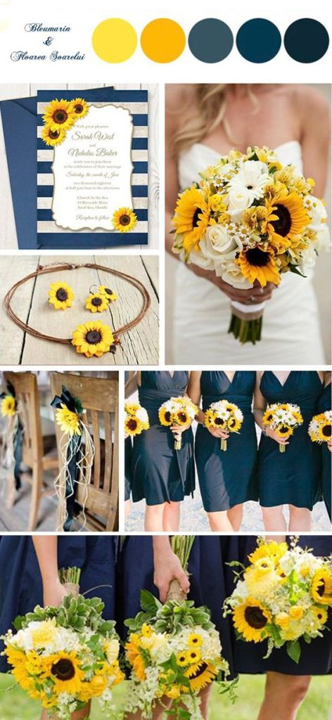 Yellow + Navy Colour Palette