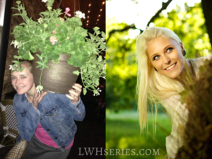 Photos representing Elise from real life and stock photos.