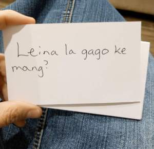 Setswana index cards in hand, Lessons learned on heavenly language.