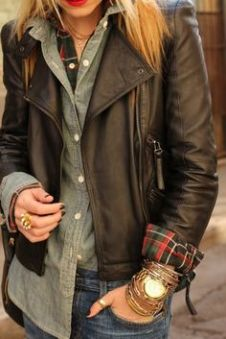 Plaid + Chambray + Leather