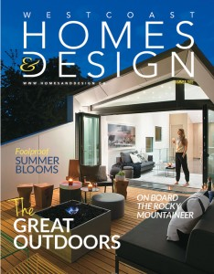 The Vanglo House Is On The Cover Of The Westcoast Home & Design