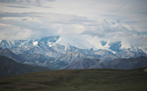 denali obscured by clouds