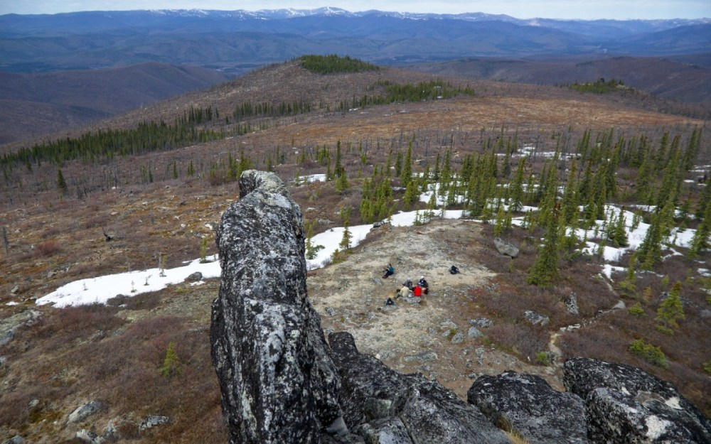 View from the top of one of the first tors along the trail