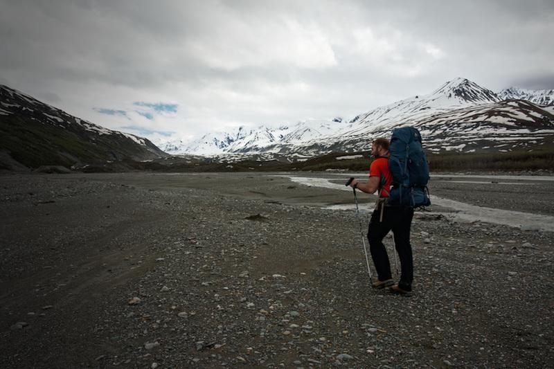 Backpacking up Miller Creek in the Alaska Range