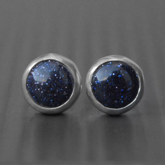 Blue Goldstone Earrings