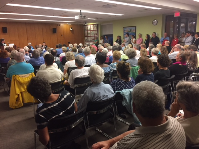 A standing room crowd!
