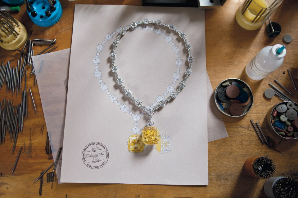 The Tiffany Diamond and Necklace Sketch