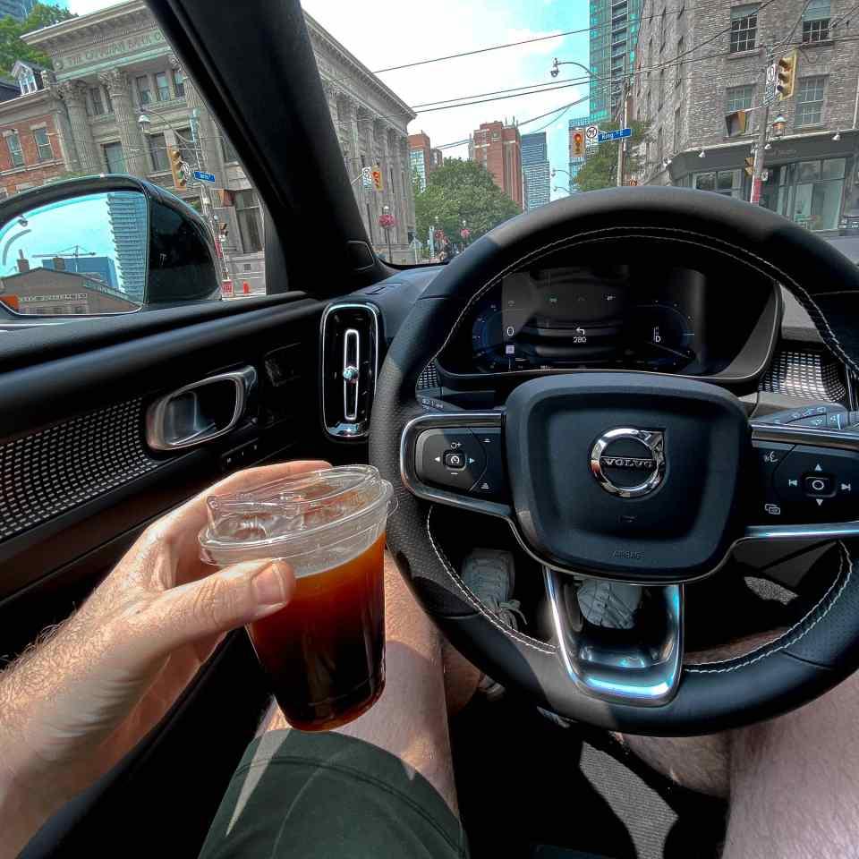 2021 Volvo XC40 Recharge, Toronto, Ontario, Iced Americano, Neo Coffee Bar