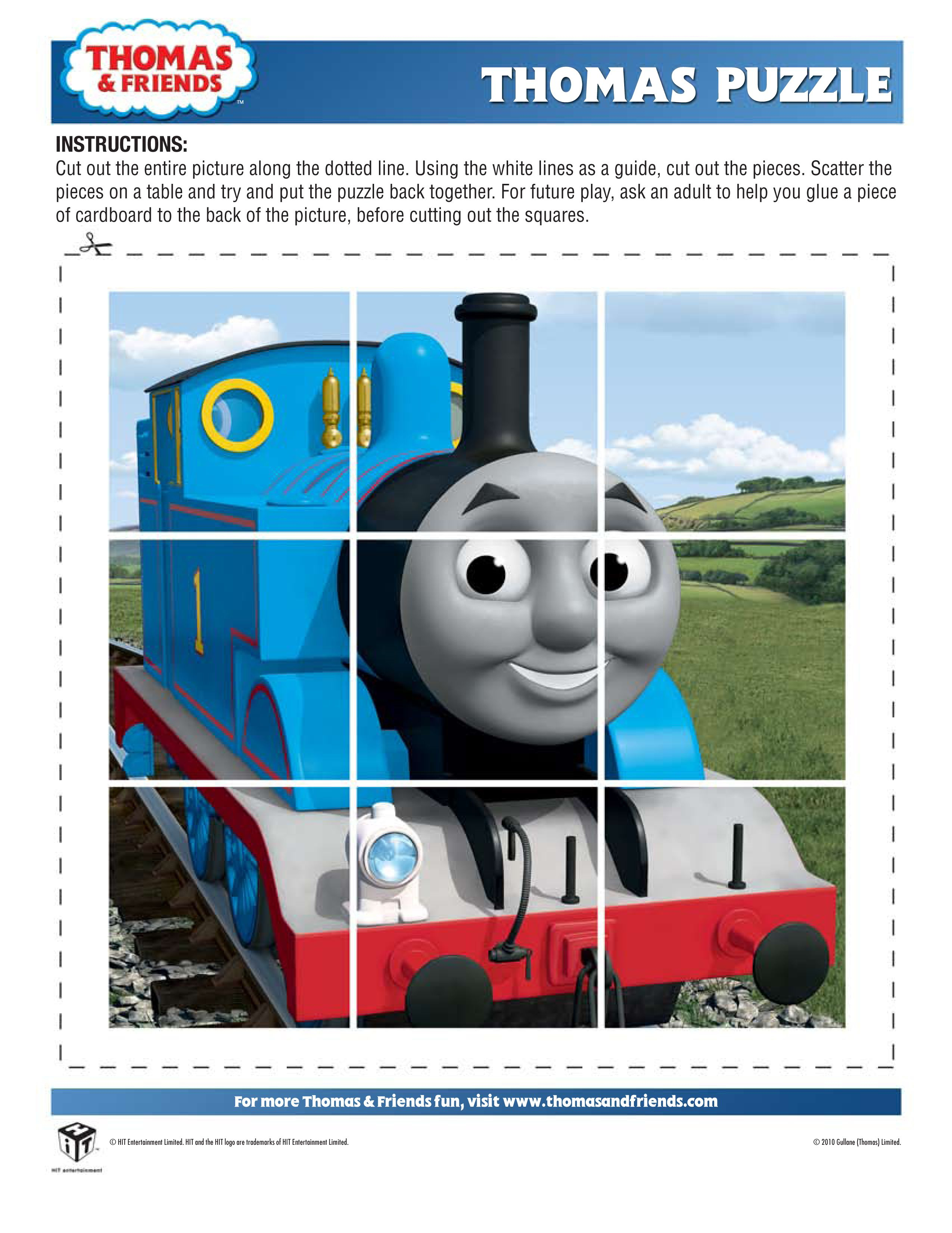 Thomas The Train Halloween Worksheets For Kids