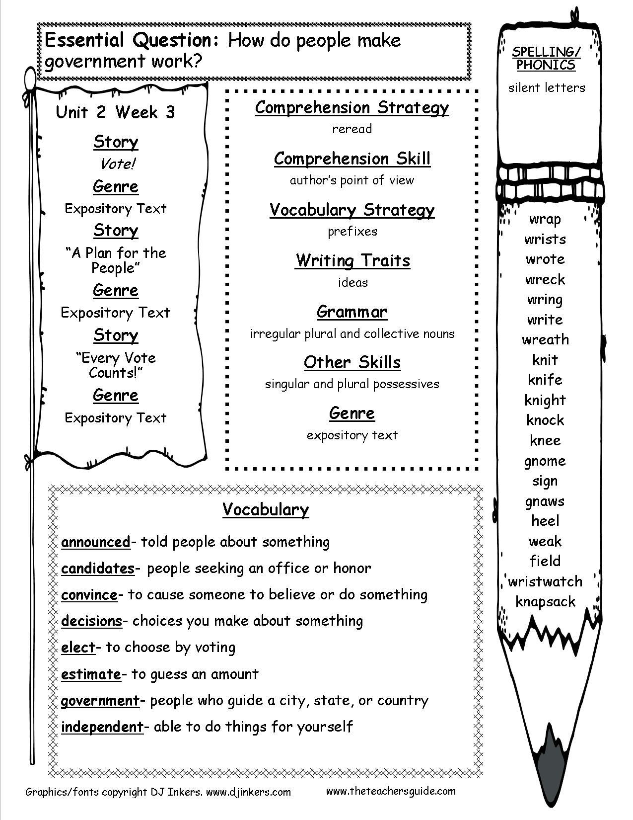 3rd Grade Spelling Worksheets