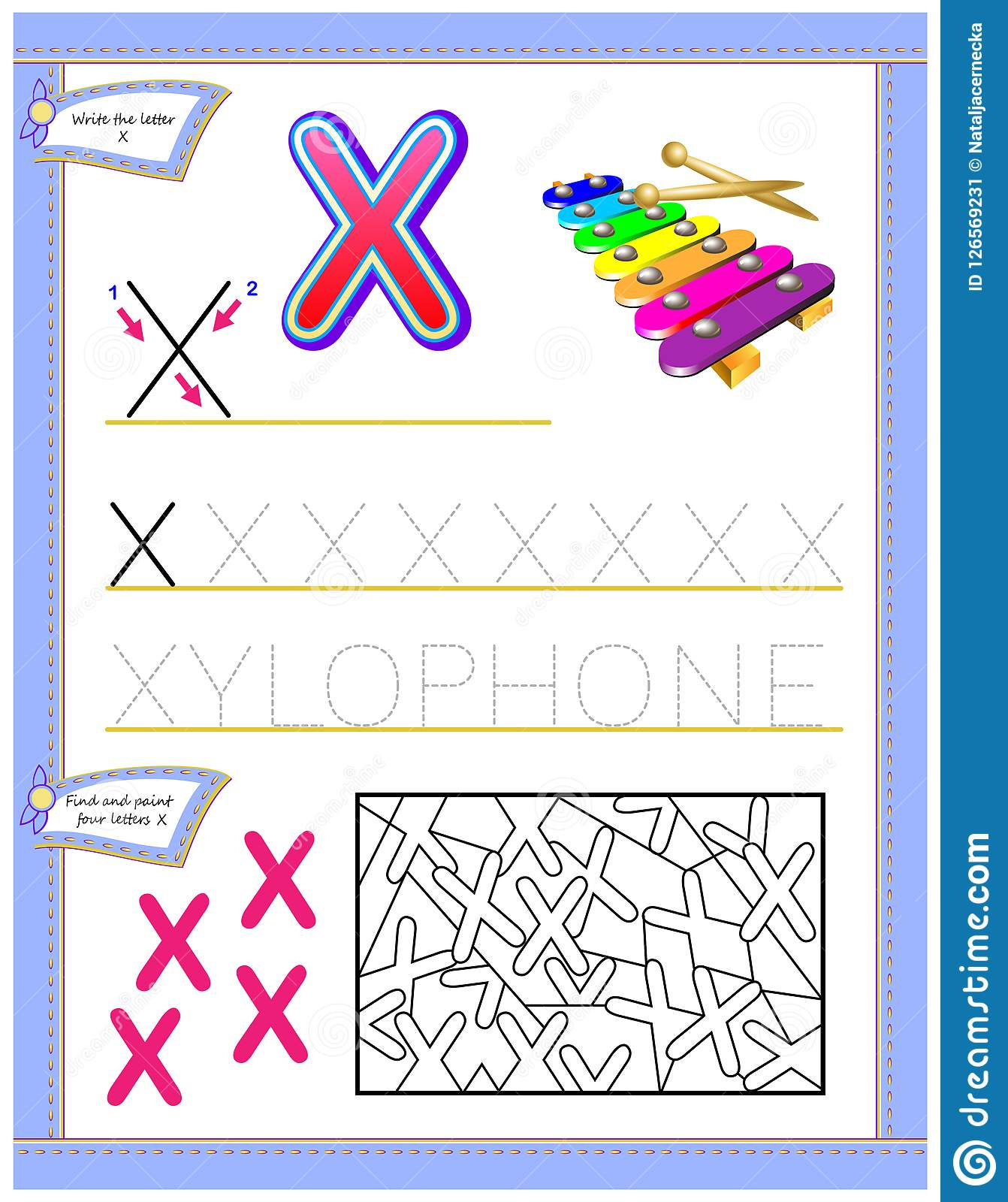 X Puzzle Worksheet