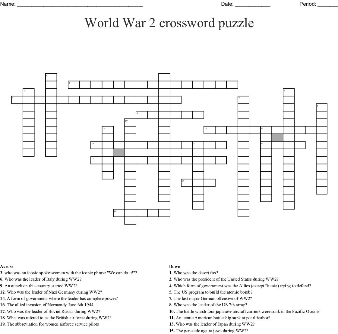 World War Ii Word Search