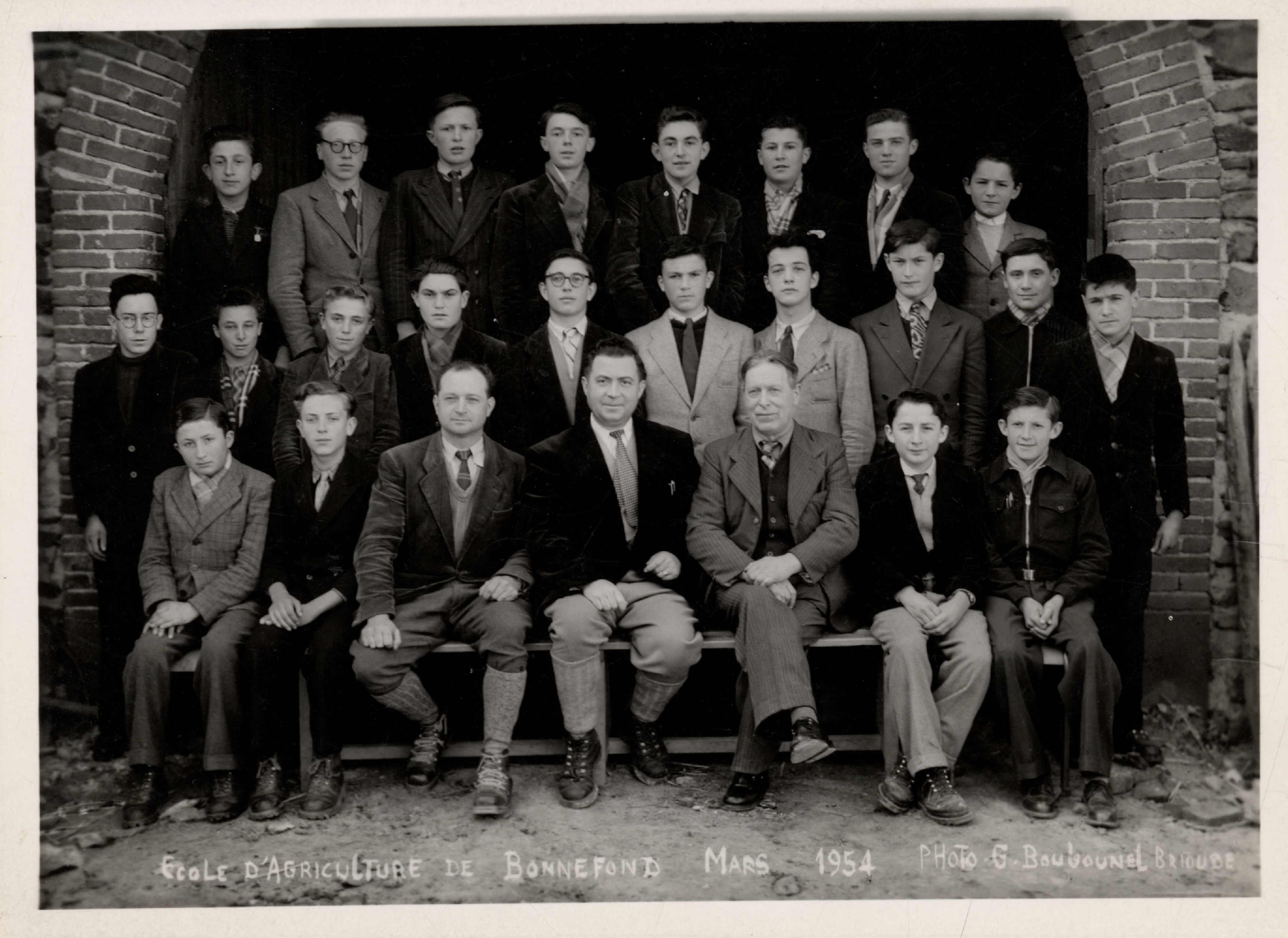 Photo de groupe - mars 1954