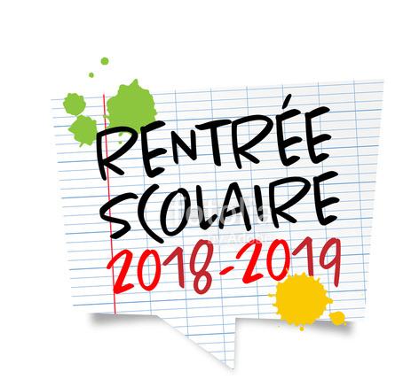 Calendrier rentrée scolaire 2018 – 2019