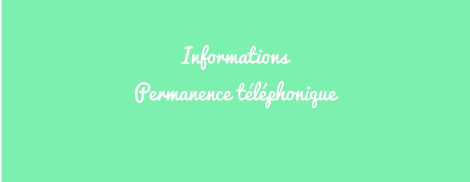 Permanence téléphonique disponible