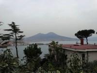 La baie de Naples jusqu'au Vésuve