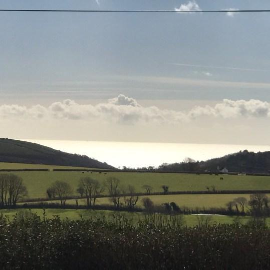 silver sea views at Lydcott Glamping, Cornwall