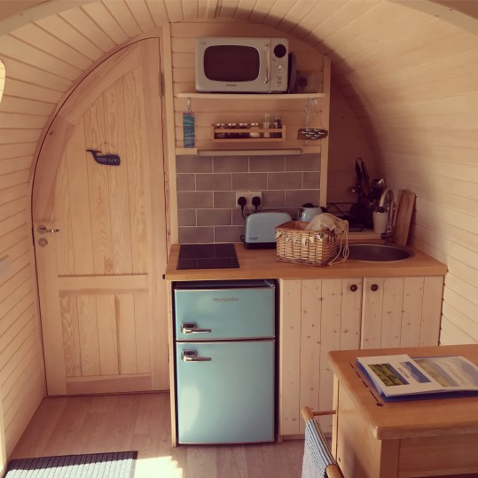 The Pilchard kitchen Lydcott Glamping Cornwall