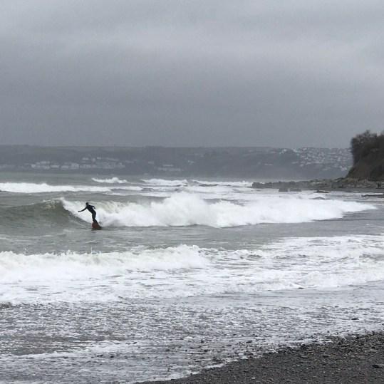 surfing at Seaton beach, less than 10 mins drive