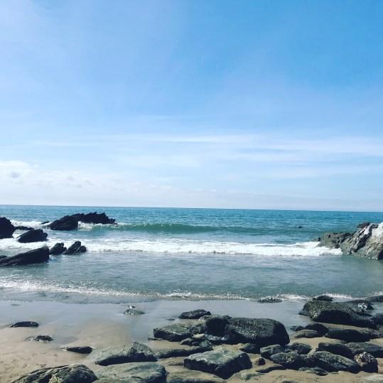 A quiet cove at Tregantle Beach, 20 mins drive