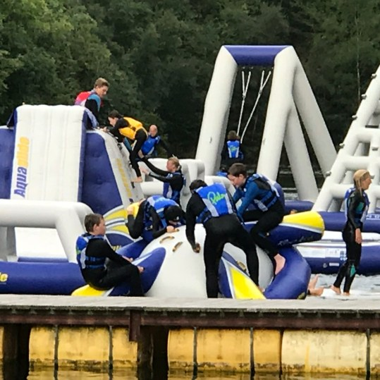 Inflatable assault course at Adrenalin Quarry - 5 mins drive