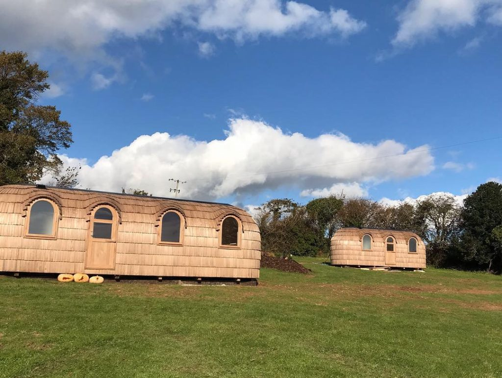 both cabins in place