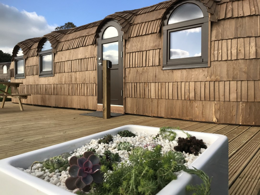 The Pilchard exterior Lydcott Glamping Cornwall