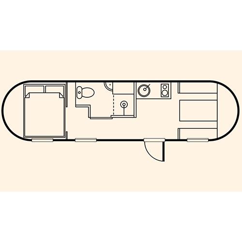Pilchard cabin floorplan