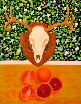 """""""Blood Oranges,"""" oil on panel, 2011"""